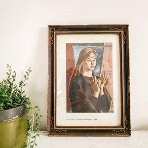 Lady print in vintage frame